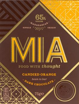 MIA Schokolade Candied Orange 65% 75g