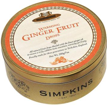 Simpkins Drops Ginger Fruit 200g
