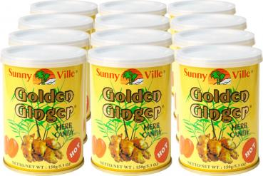 Sunny Ville Golden Ginger Herb Candy 12x150g Dosen