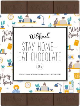 Wildbach Schokolade Stay Home Eat Chocolate 38% 70g