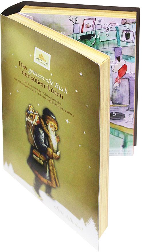 Lauenstein Adventskalender Buch Alkoholfreie Trüffel und Pralinen 340g