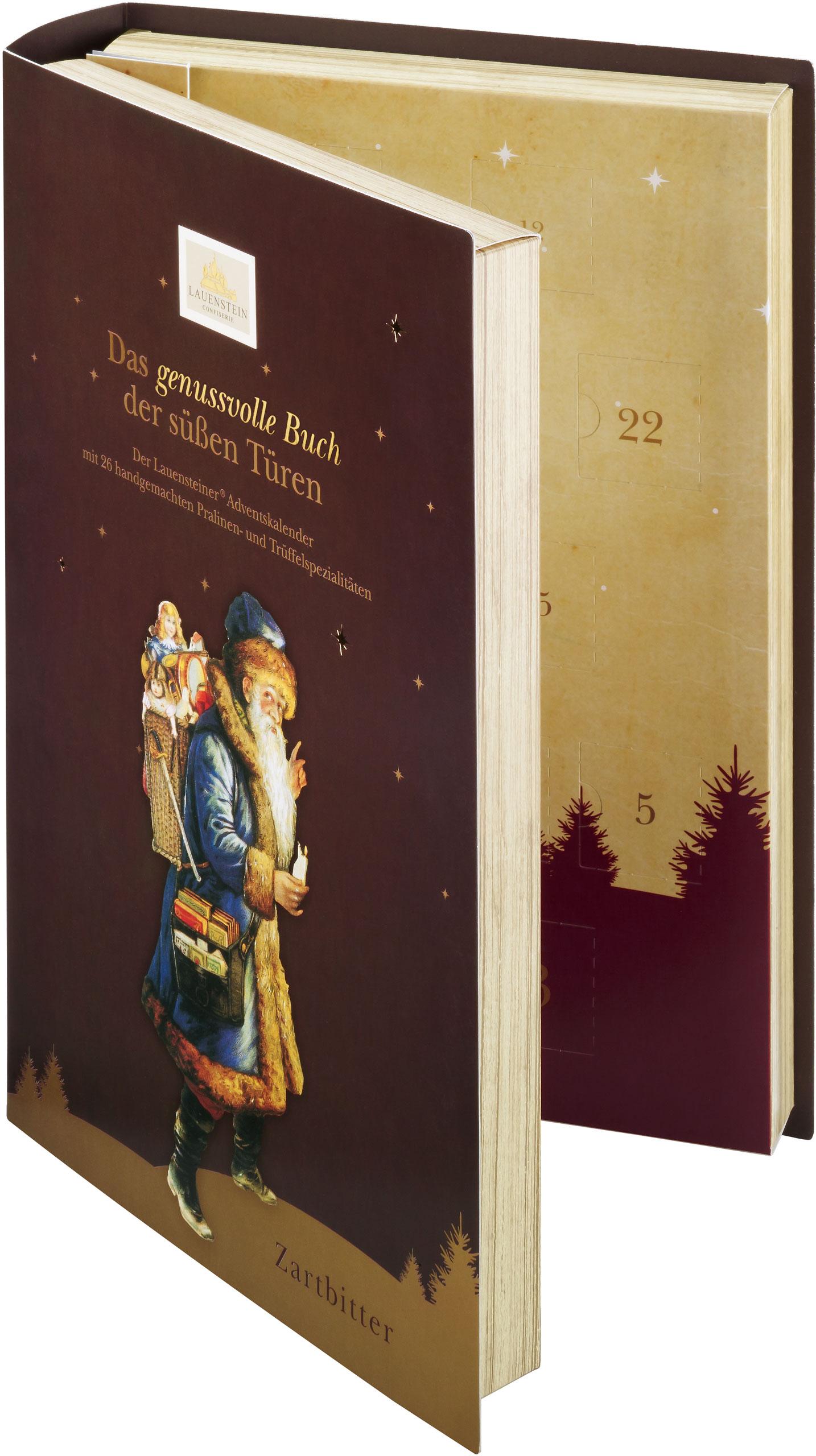 Lauenstein Adventskalender Buch Edelherbe Trüffel und Pralinen 340g