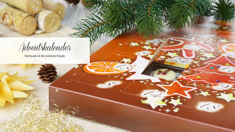 Weihnachtskalender Weiße Schokolade